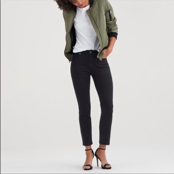 7 For All Mankind Denim - 7 For All Mankind Slim Straight Crop